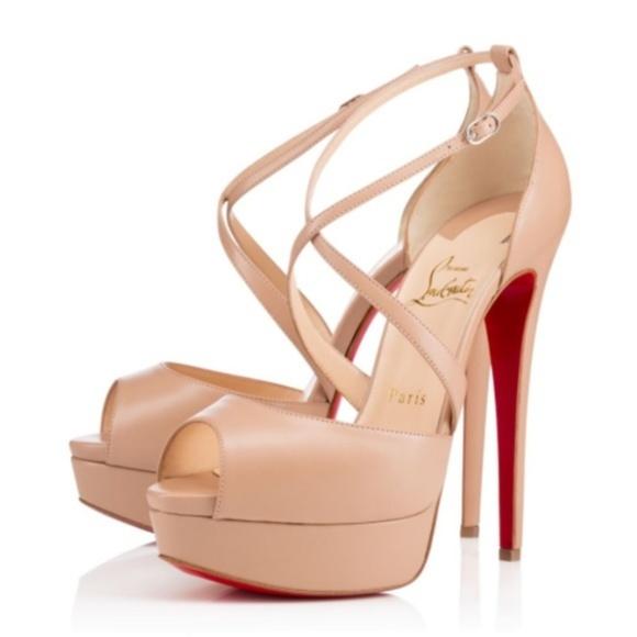 7914b7342381 Christian Louboutin Shoes - Christian Louboutin Cross Me Platform Red Sole